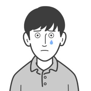 男性(泣)イラスト